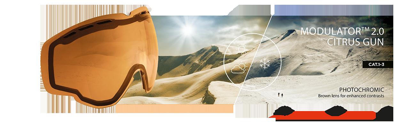 Lentille du Modulateur 2.0 Citrus Gun de Bolle