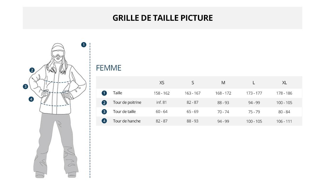 Grille de taille Picture Femme